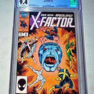 Key issue! Marvel comics. X-Factor #6 CGC 9.4 - 1st full appearance of Apocalypse