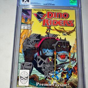 Dino Riders #1 CGC 9.4 MARVEL STAR COMICS 1989